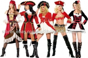China Ladies Caribbean Pirate Costume Fancy Piratenkostm Dress on sale