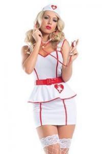 China Sexy 50s Vintage Zombie Nurse Costume Lingerie on sale