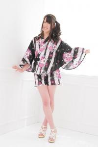 China Japanese Girl Cardigan Kimono Sleepwear Sheer Long Sleeve Lace Robe Longue Femme Pas Cher on sale