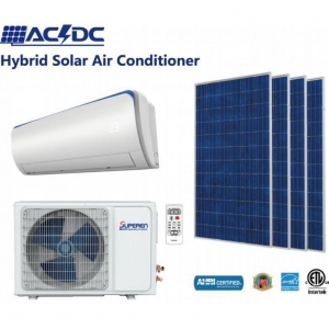 China 12000BTU ACDC Solar Assisted Air Conditioning and Solar Powered Room Air Conditioner Solar Heat Pump on sale