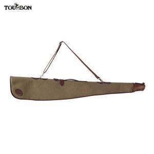 China Tourbon Hunting Canvas and Leahter Custom Padding Gun Slip Bag 52Shotgun Case Lockable on sale