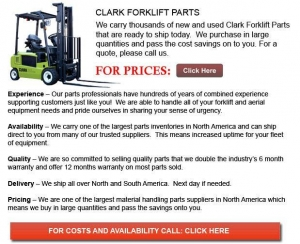 China Clark Forklift Part on sale