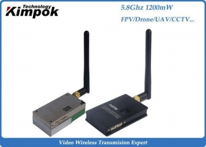 China 1200mW Analog Video Transmitter , 5.8Ghz Wireless CCTV Video Transmitter & Receiver on sale