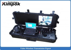 China RS232 / RS485 UAV Ground Base Station H.264 COFDM Video Receiver DVR on sale