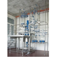 China chemReactor CR Multipurpose glass pilot reactor and pilot plant on sale