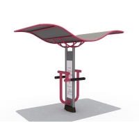 Outdoor Playground Double Leg Stretch Station with Roof KW-0572
