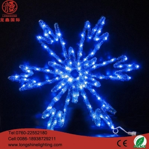 China Neon Sign Light Blue snowflake motif light on sale