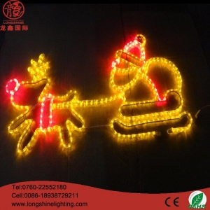 China Father christmas with deer road light on sale