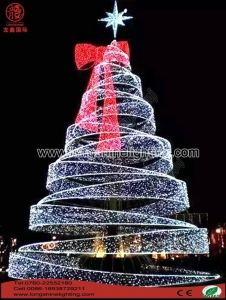China 6M White+Red Taper LED Christmas Tree Light on sale