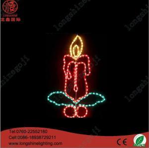 China Neon Sign Light 60CM LED white snowflake motif light on sale