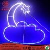 China Neon Sign Light Moon And Star Motif Corban&Ramadan Outdoor Holiday LIght for sale