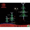 China Neon Sign Light Christmas Tree Motif Outdoor Street Pole Lamp Decoration Light for sale
