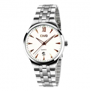 China CIVO Men's Luxury Stainless Steel Band Wrist Watch Rose Gold on sale
