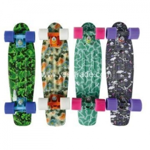 China Colorful Leopard Printed Plastic Penny Skate Board on sale