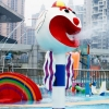China Water recreation facilities Big head clown water spray for sale