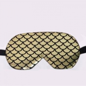 China 1003-1 Fish Scale Design Travel Eye Mask Hot Cold Massager with Ice Gel Bag on sale