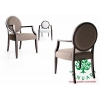 China Round Back Restaurant Dining Chairs for sale