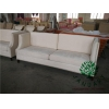 China Nail Head Three Seaters Lobby Sofa Couch for sale