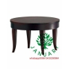 China Round wood Coffee Table for Hotel Lobby for sale