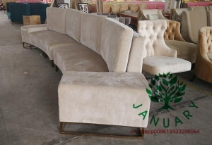 China Curved Fabric Chaise Lounge Sofa on sale