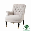 China Comfy Wingback Chair Oversized in White for Club for sale