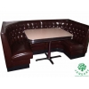 China Corner Restaurant Furniture Sets with Corner Booths and Tables for Dining Seating for sale