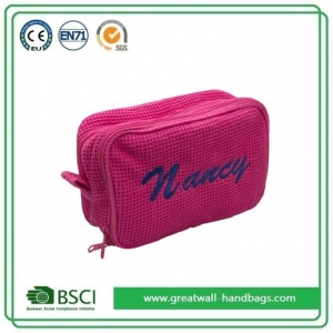 China Wholesale Custom Personalized Pretty Pink Girly Makeup Bags and Cases on sale