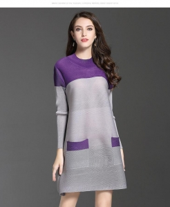 China Long Sleeve A-line Dress For Fat Girl on sale
