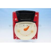 China C0101 Ceramic Christmas Snowman Plate on sale