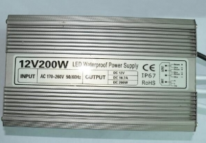 China High Power Led Driver Replacement , Led Light Power Supply Aluminum Shell 200W on sale