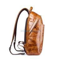 iCarer Vintage Oil Wax Waterproof Real Leather Backpack