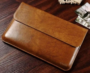 China iCarer Genuine Leather Series Sleeve Bag For Apple Macbook Air on sale