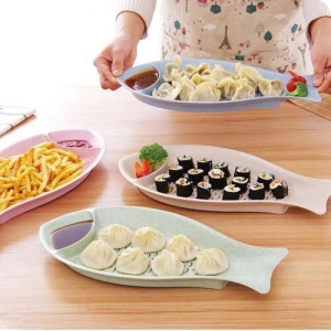 China LM121Wheat straw dumpling plate on sale