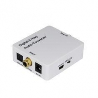 Mini 2 Way Digital Audio Converter , Coaxial to Toslink Converter Support Amplification