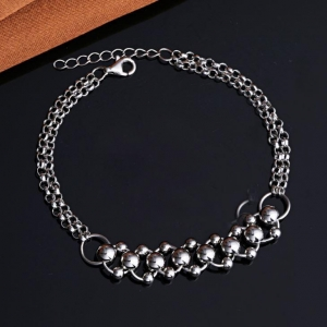 China Wholesale 925 Sterling Silver Beads Bracelets For Women on sale