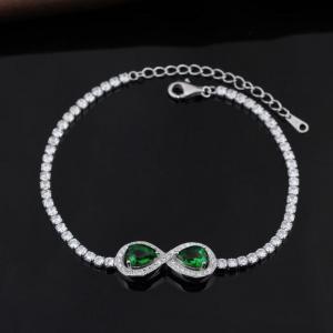 China 925 Sterling Silver Unisex Tennis Italian Ladies Zircon Bracelet For Women Jewelry on sale