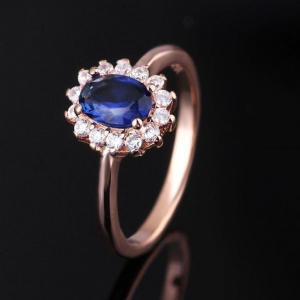 China 925 Silver Simple Finger Gemstone Cz Jewellery Ring on sale