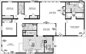 China 4 Bedroom Home Floor Plans on sale