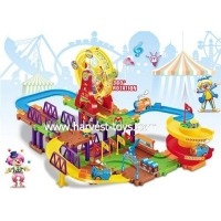 China HI-8068 Educational battery operated blocks small plastic toy train on sale