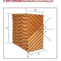 China greenhouse cooling pad on sale