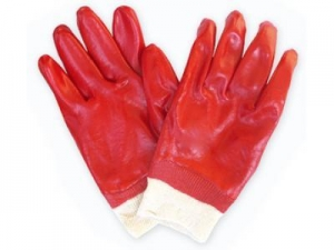 China Knitted Wrist PVC Gloves on sale