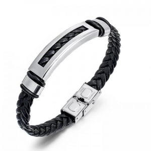 China Leather Bracelet for Men Womens Rope Wrap Bangle Cuff Bracelet,7-8 Inches Adjustable on sale