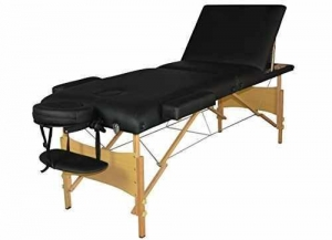 China Black 3 Section Portable Massage Table Facial SPA Bed Tattoo W/carry Case T3 on sale