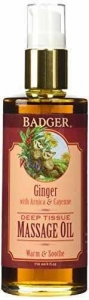 China Badger Ginger Deep Tissue Massage Oil 4oz on sale