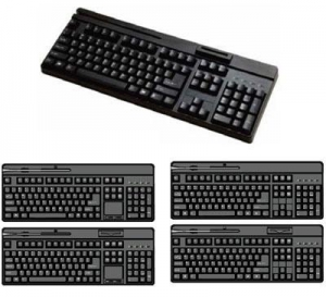 China SMART CARD READING KEYBOARD KB-6868 MSR+SCRIntegrater MSR and Smart card reader on sale