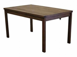 China Timbo Mestra Hardwood Outdoor Patio Rectangular Dining Table, Table, Brown on sale