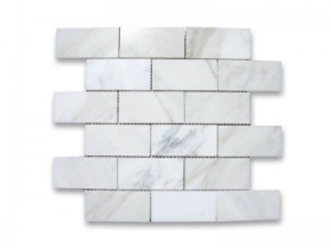 China Marble Polished 3X6 Subway Brick Tile on sale