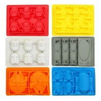 ACLT10-11 Star Wars Silicone Ice Trays/Chocolate Molds, Set of 6