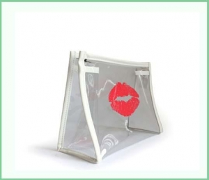 China Transparent bag with lipstick womens toiletry bag on sale