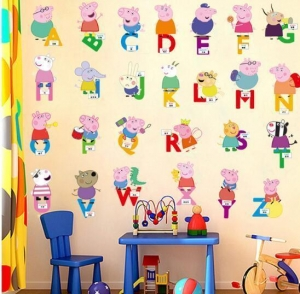 China Removable Vinyl Kids Room Sticker Nursery School Wall Stickers on sale
